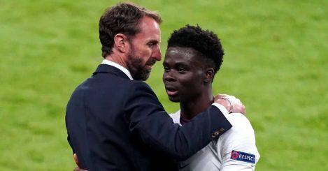 Bukayo Saka; Gareth Southgate England TEAMtalk