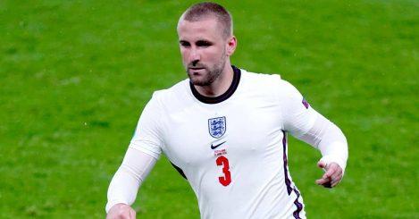 Luke Shaw England left-back at Wembley