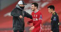 Jurgen Klopp, Andy Robertson Liverpool v Ajax December 2020