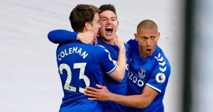 Seamus Coleman, James Rodriguez, Richarlison, Everton TEAMtalk