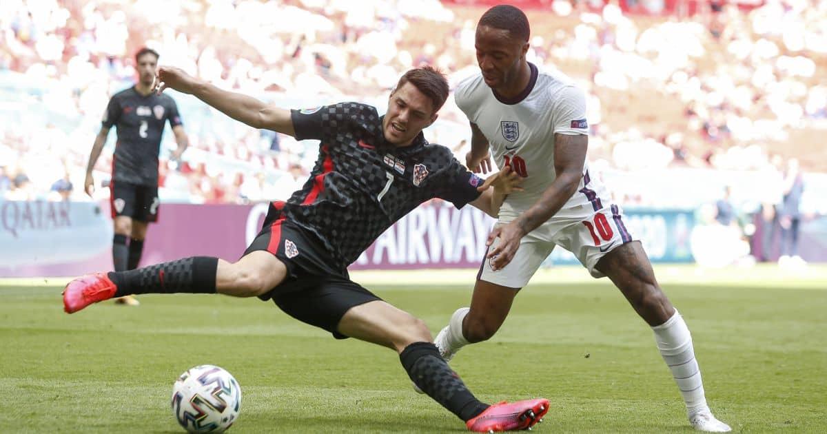 Josip Brekalo, Raheem Sterling England v Croatia Euro 2020