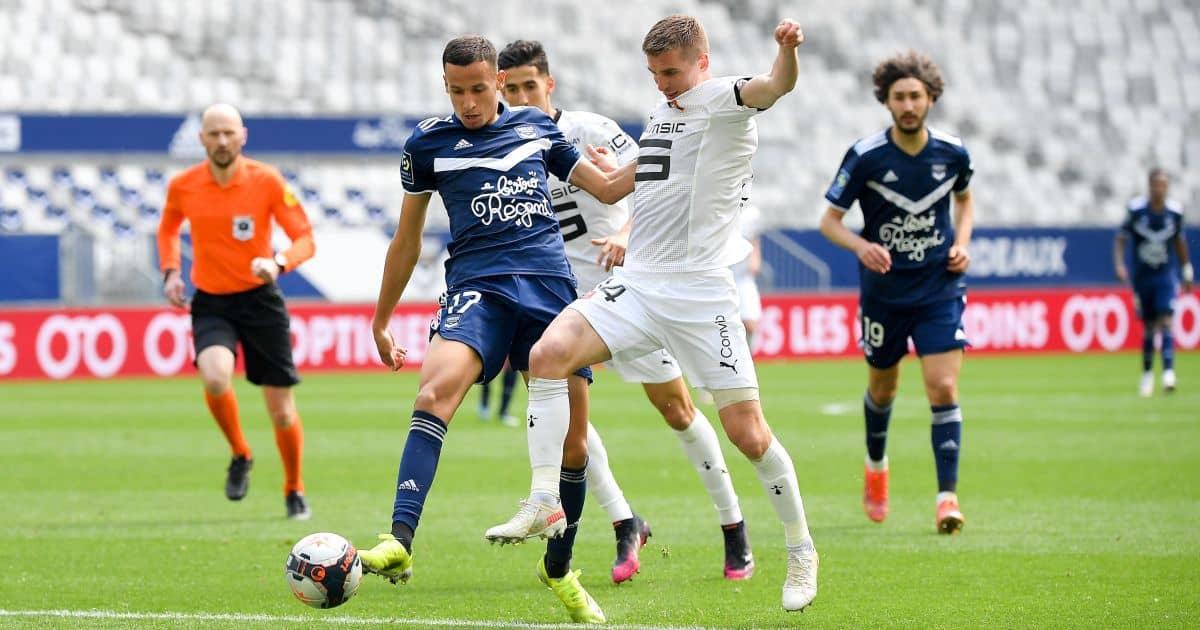Mehdi Zerkane, Benjamin Bourigeaud Bordeaux v Rennes May 2021