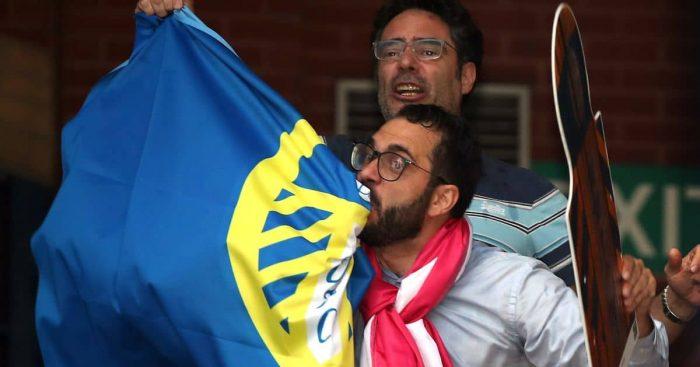 Victor Orta, Leeds United flag