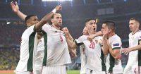 Attila Szalai, Adam Szalai celebrate Germany v Hungary Euro 2020