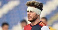 Nahitan Nandez, Cagliari midfielder bandage