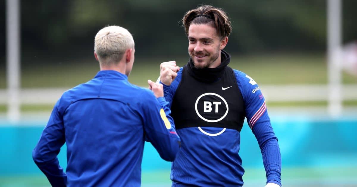Jack Grealish et Phil Foden Angleterre s'entraînent à l'Euro 2020