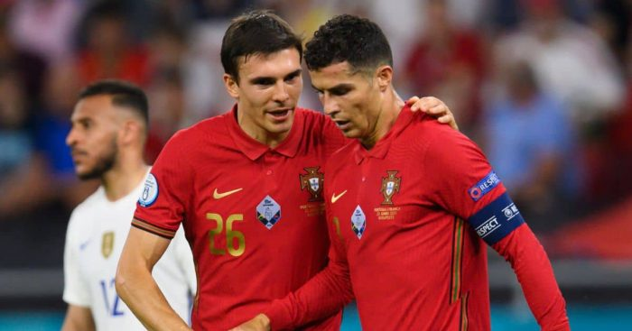 Joao Palhinha; Cristiano Ronaldo Portugal v France TEAMtalk