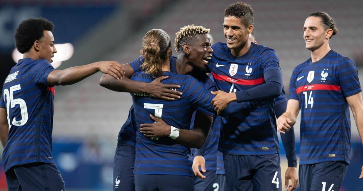 Jules Kounde, Paul Pogba, Raphael Varane, Antoine Griezmann, Adrien Rabiot, France celeb,