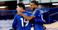 James Rodriguez, Dominic Calvert-Lewin, Everton celeb