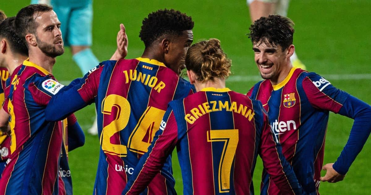 Miroslav Pjanic, Junior Firpo, Antoine Griezmann, Barcelona celeb