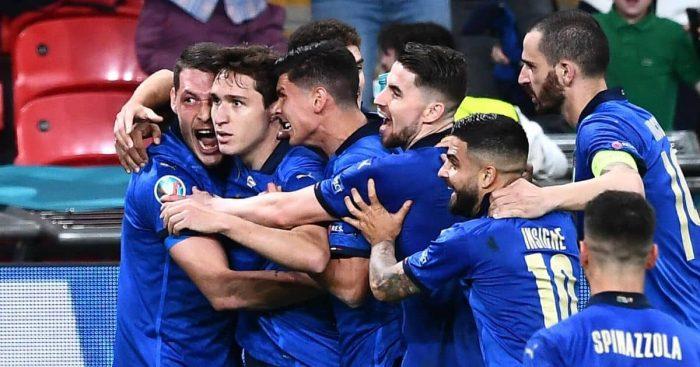 Federico Chiesa celebration Italy Euro 2020 TEAMtalk