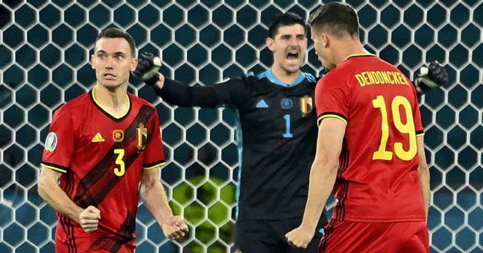 Thomas Vermaelen Thibaut Courtois Leander Dendoncker, Belgium, Euro 2020