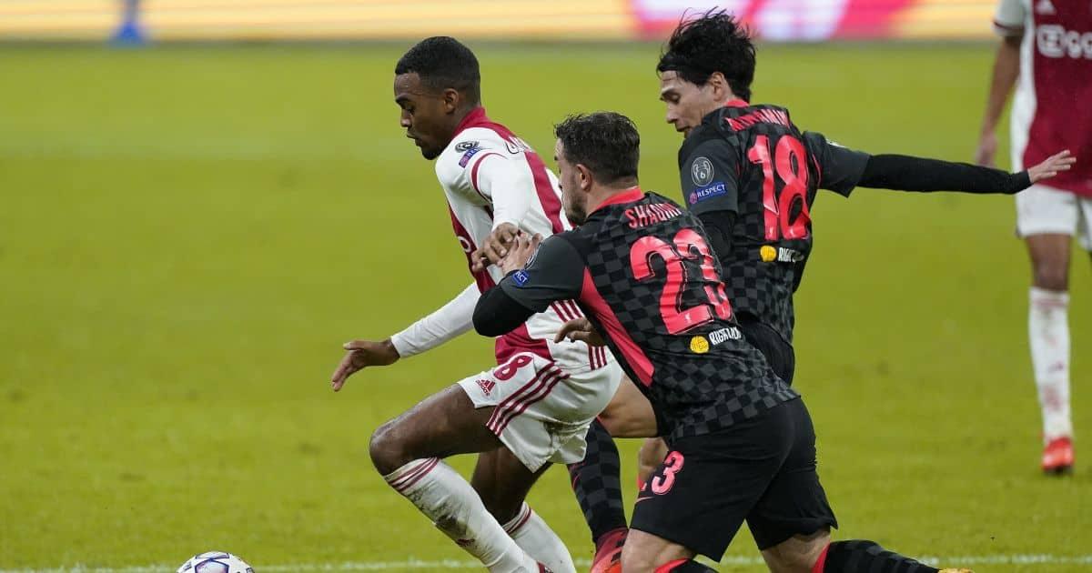 Xherdan Shaqiri, Takumi Minamino Ajax v Liverpool October 2020