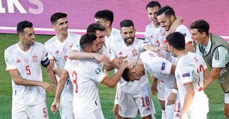 Spain celebration, Euro 2020