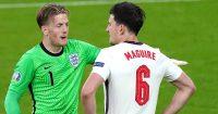 Jordan Pickford, Harry Maguire, England Euro 2020