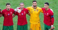 Ruben Dias, Pepe, Rui Patricio, Cristiano Ronaldo, Portugal Euro 2020
