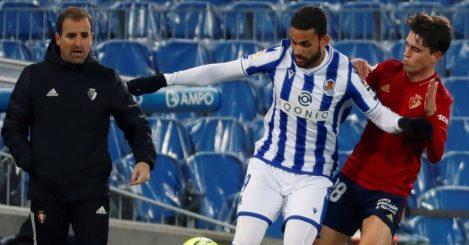 Willian Jose, Javi Martinez Real Sociedad v Osasuna January 2021