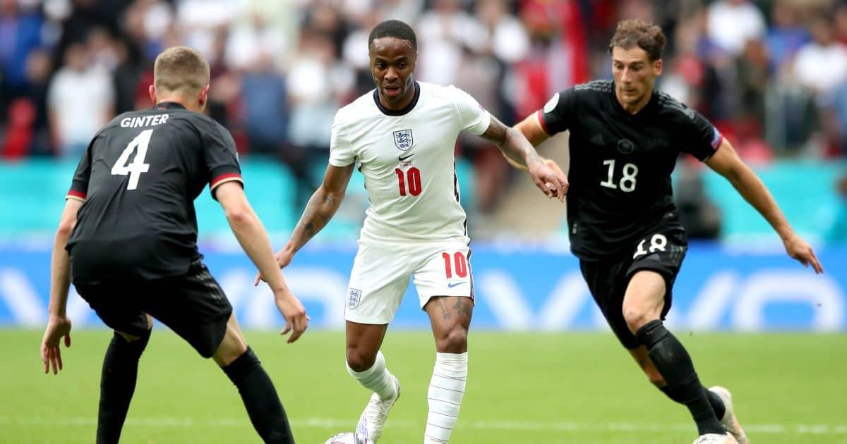Raheem Sterling, Matthias Ginter, Leon Goretzka England v Germany Euro 2020