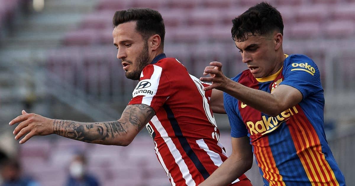 Saul Niguez, Pedri Atletico v Barcelona