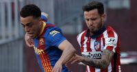Sergio Dest, Saul Niguez, Barcelona v Atletico Madrid