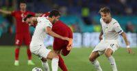 Manuel Locatelli Kenan Karaman, Ciro Immobile Turkey v Italy Euro 2020