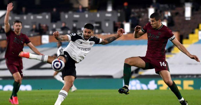 Conor Coady, Aleksandar Mitrovic Fulham v Wolves April 2021