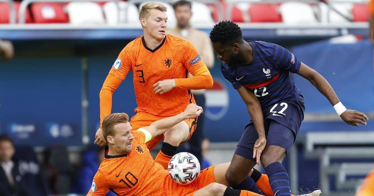 Odsonne Edouard, Perr Schurrs, Dani de Wit Netherlands Under-21s v France Under-21s May 2021