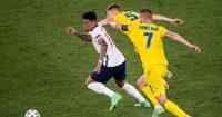 Jadon Sancho, Andriy Yarmolenko Serhiy Sydorchuk Ukraine v England Euro 2020
