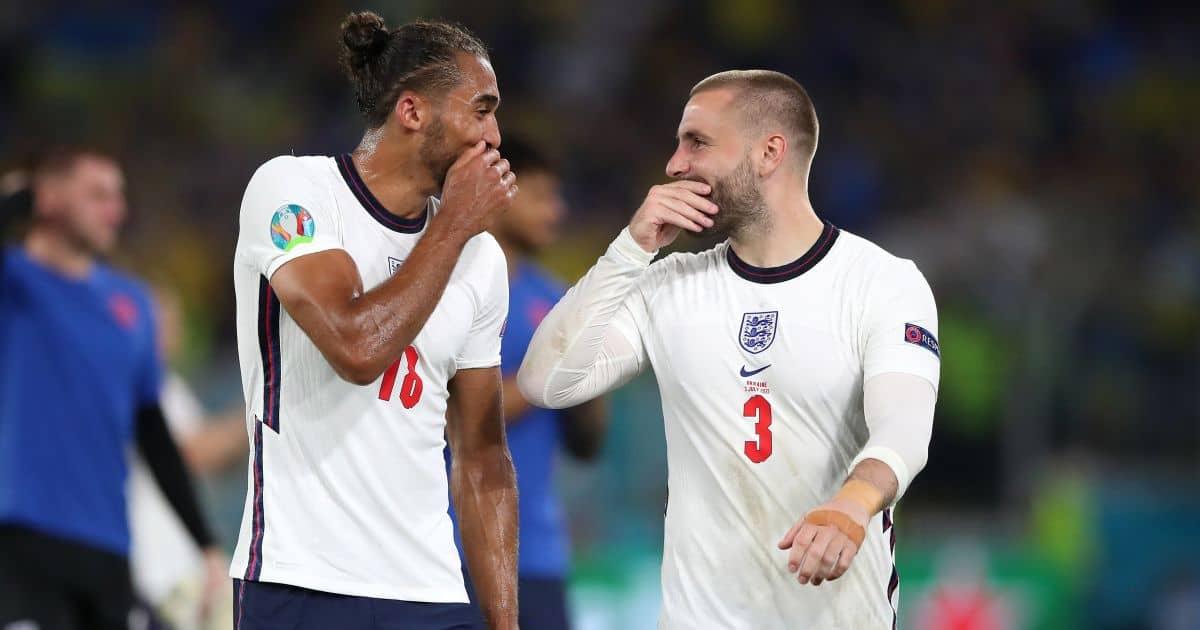 Luke Shaw, Dominic Calvert-Lewin Ukraine v England Euro 2020