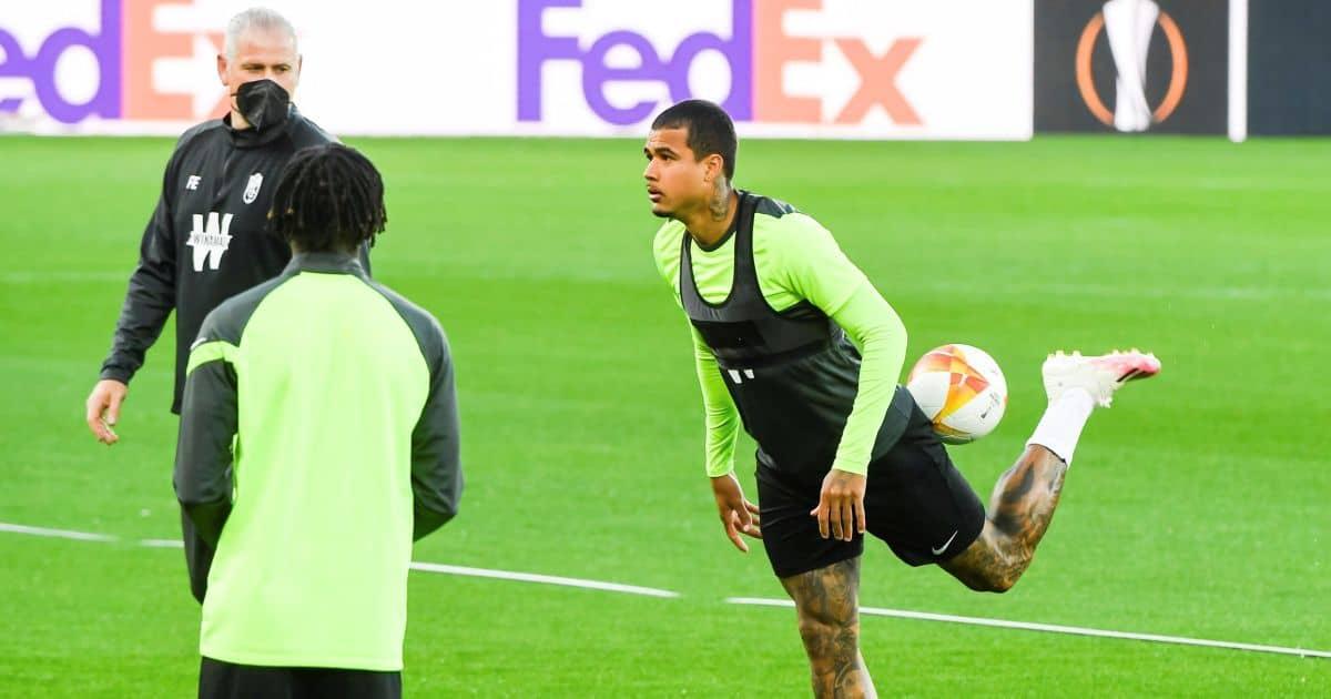 Kenedy Granada training, on loan from Chelsea, April 2021