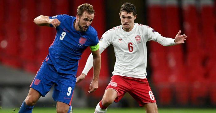Andreas Christensen, Harry Kane England v Denmark October 2020