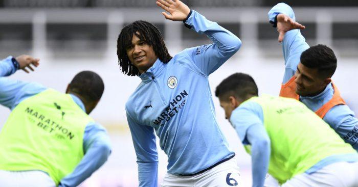Nathan Ake, Joao Cancelo, Man City warm-up, say whoops-up, side-your-head, TEAMtalkNathan Ake, Joao Cancelo, Man City warm-up, say whoops-up, side-your-head