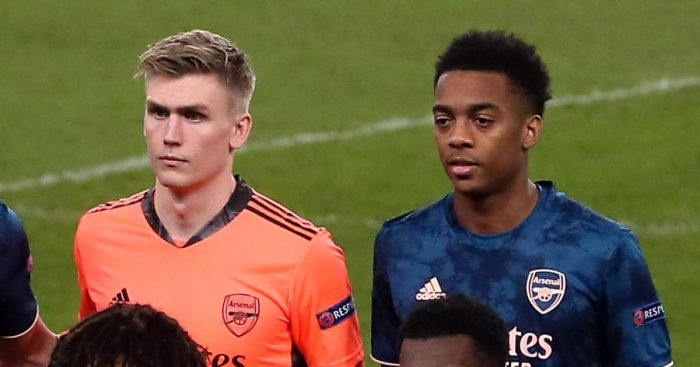 Runar Alex Runarsson, Joe Willock Arsenal TEAMtalk
