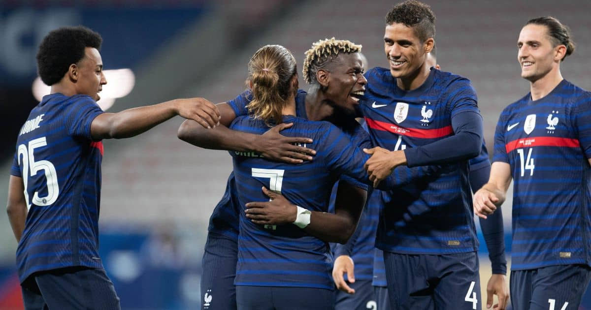 Jule Kounde Paul Pogba Raphael Varane Antoine Griezmann France TEAMtalk