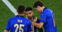 Rafael Toloi, Lorenzo Insigne, Federico Chiesa, Italy celeb Euro 2020