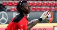 Eduardo Camavinga Rennes star warms up