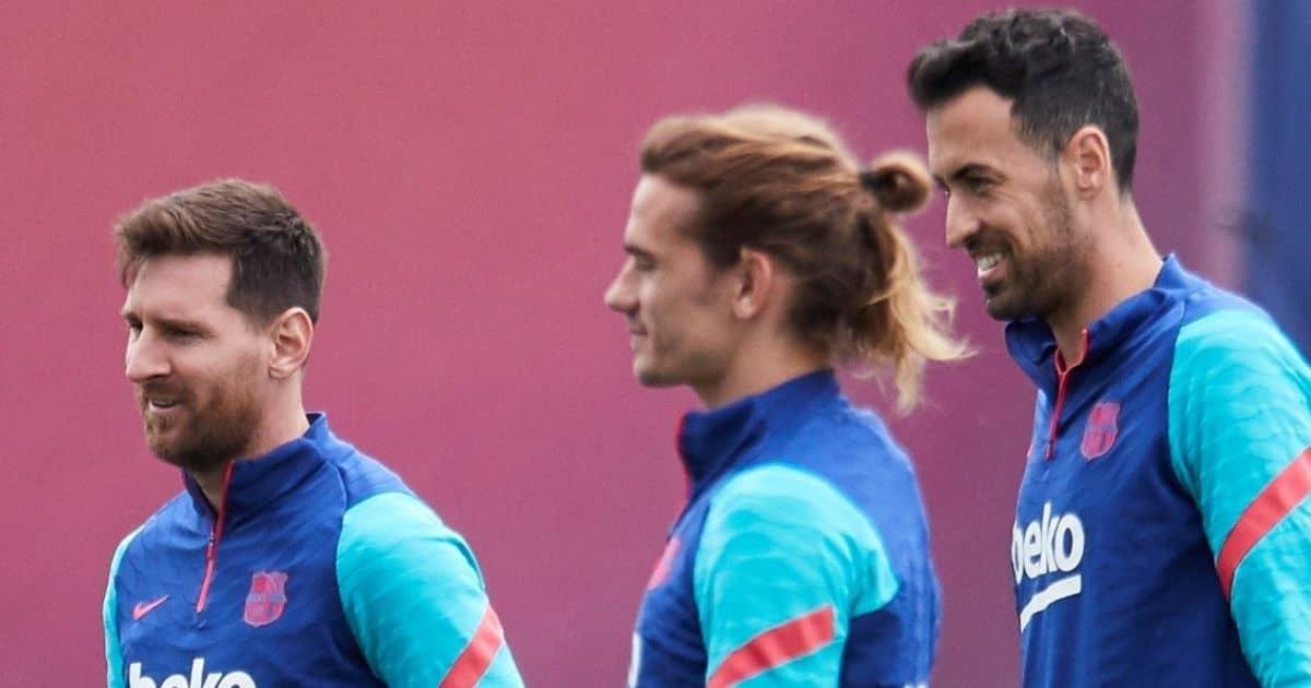 Lionel Messi, Antoine Griezmann Sergio Busquets, Barcelona