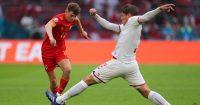 David Brooks, Jannick Vestergaard Wales v Denmark Euro 2020