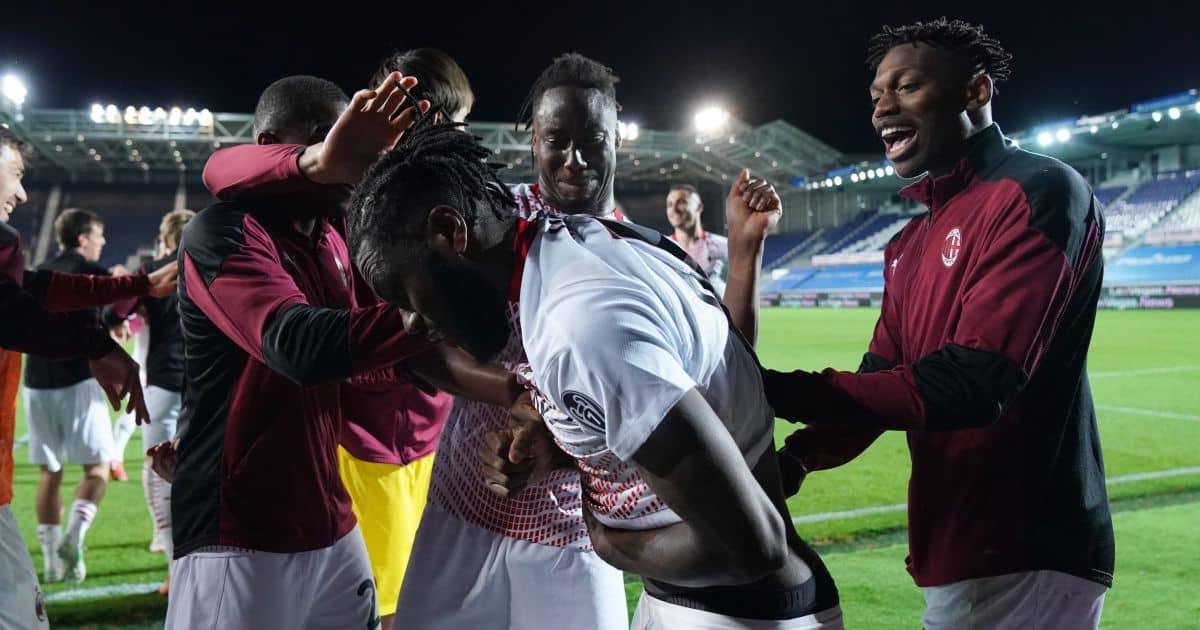 Franck Kessie, Rafael Leao, Soualiho Meite AC Milan May 2021