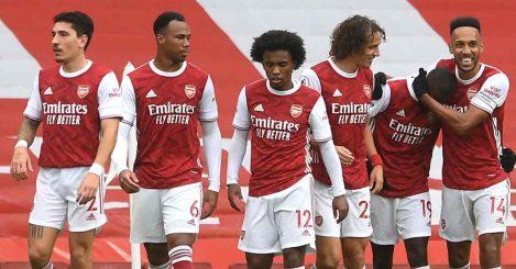 Hector Bellerin Gabriel Willian Hector Bellerin David Luiz Aubameyang Arsenal TEAMtalk