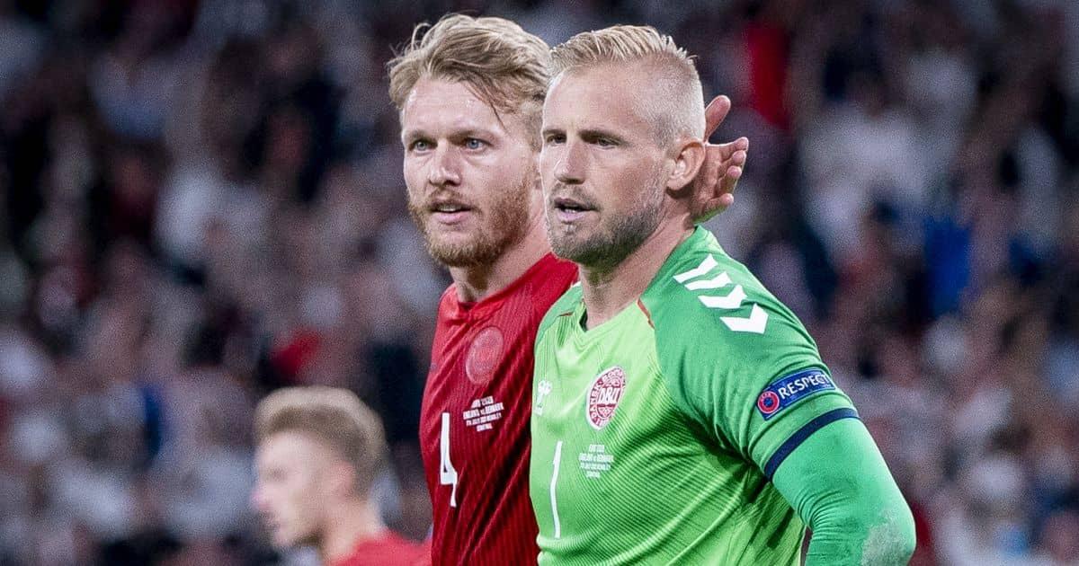 Simon Kjaer Kasper Schmeichel Denmark Euro 2020 TEAMtalk