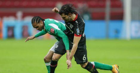 Tahith Chong on loan from Man Utd, Aleksandar Dragovic Bayer Leverkusen v Werder Bremen