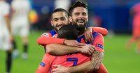 Hakim Ziyech, N'golo Kante, Olivier Giroud, Chelsea celeb