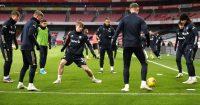 Joe Gelhardt Arsenal v Leeds February 2021