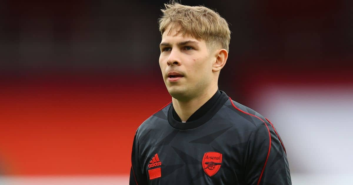 Emile Smith Rowe, Arsenal training top