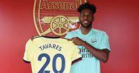 Nuno Tavares signs for Arsenal (pic via Arsenal)