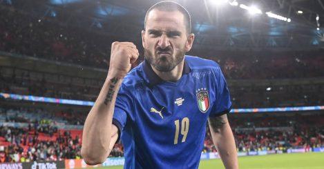 Leonardo Bonucci celebration, Italy v England, Euro 2020 final,