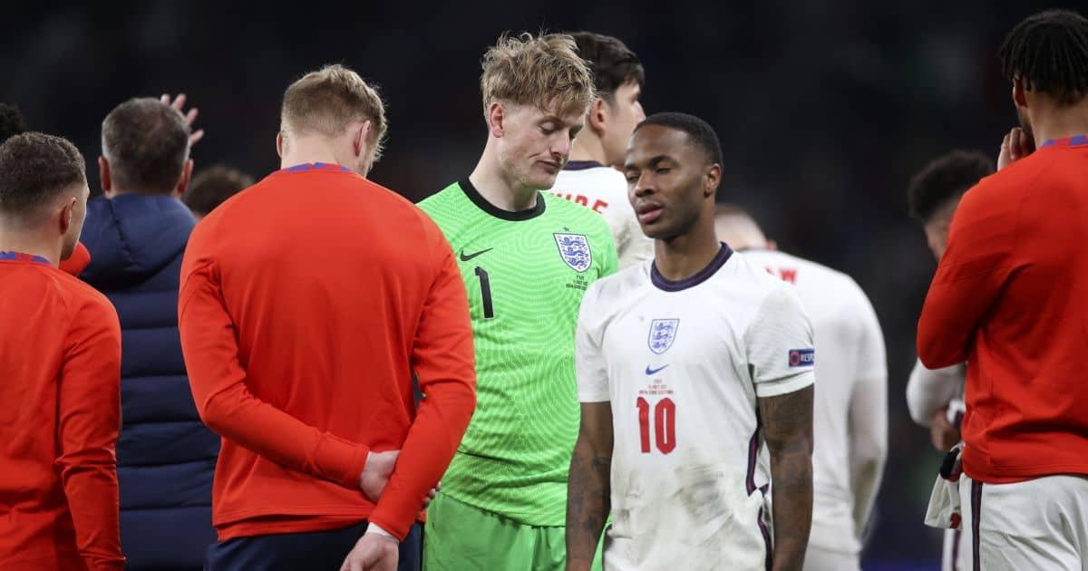 Raheem Sterling, Jordan Pickford Italy v England Euro 2020 final