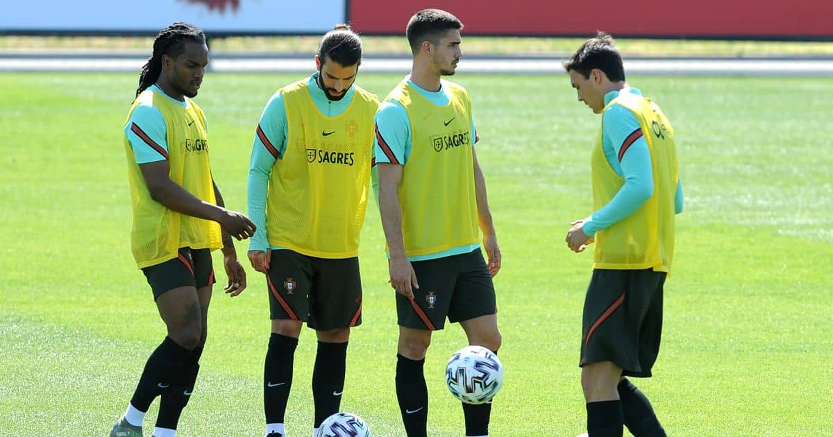 Renato Sanches, Sergio Oliveira, Andre Silva, Joao Palhinha Portugal training May 2021