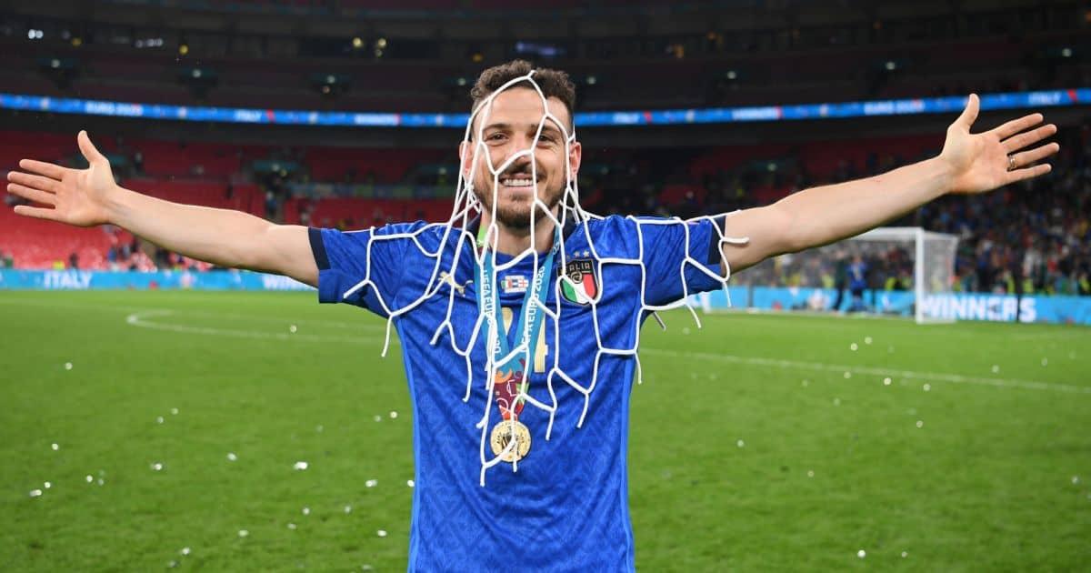 Alessandro Florenzi celebrates Italy v England Euro 2020